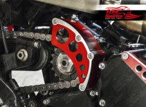 Sprocket Cover for Triumph Classic & Cruiser (Red)