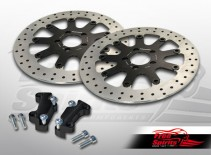 Brake rotors kit (320 mm) for Harley Davidson Sportster with dual disc