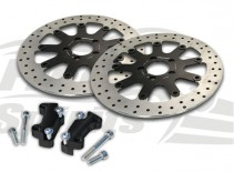 Brake rotors kit (320 mm) for Harley Davidson Dyna with dual disc