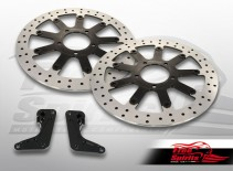 Triumph Bonneville T120 & Thruxton Standard 2016 up Up-grade floating front brake Rotors kit