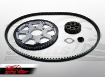 Belt drive conversion for Triumph America & Speedmaster (Silver)