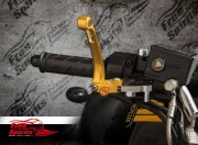 Brake lever & clutch lever reclining and adjustable for Buell (Gold)