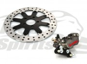 Bolt-in Upgrade braking kit (Titanium) for Harley Davidson Sportster 2000 up (4p. caliper & rotor diam. 300 mm)
