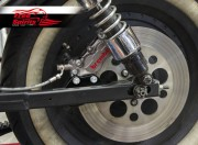 "Rear brake caliper 4 pot kit (Titanium) for Harley Davidson Sportster until 2003 (Rotor diam 11""1/2)"