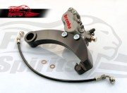 Brembo caliper 4 pot rear bracket for Harley Davidson Dyna 06 up (Titanium)