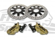 Bolt-in Upgrade braking kit for Triumph Thruxton Standard 2016 up (4p. calipers & rotors diam. 310 mm)