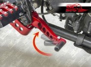 Reclining pedals kit for Triumph Scrambler (Red)
