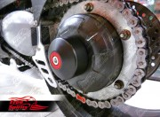Axle protection for Triumph single arm