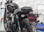 Undertray & license plate for Triumph Street Twin/Cup/Scrambler & Bonnevile T100/T120 2016 up