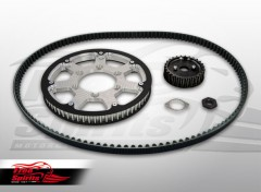 Belt drive conversion for Triumph Street Twin/Cup/Scrambler & Bonneville T100 2016 up (Silver)