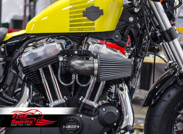 Free Flow Exhaust >> Aircleaner High Flow kit for Harley Davidson Sportster ...