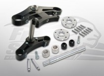 202302k free spirits hd sportster cafe racer triple clamps (black)